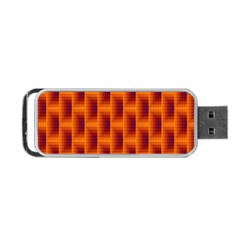 Fractal Multicolored Background Portable Usb Flash (two Sides) by Amaryn4rt