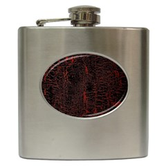 Black And Red Background Hip Flask (6 Oz) by Amaryn4rt