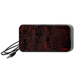 Black And Red Background Portable Speaker (black) by Amaryn4rt