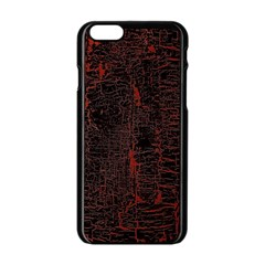Black And Red Background Apple Iphone 6/6s Black Enamel Case by Amaryn4rt