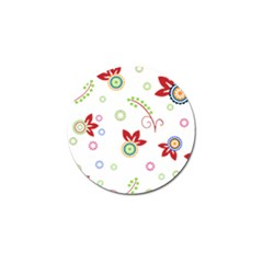 Colorful Floral Wallpaper Background Pattern Golf Ball Marker by Amaryn4rt