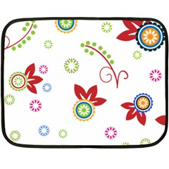 Colorful Floral Wallpaper Background Pattern Double Sided Fleece Blanket (mini)  by Amaryn4rt
