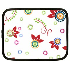 Colorful Floral Wallpaper Background Pattern Netbook Case (xxl)  by Amaryn4rt