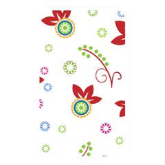 Colorful Floral Wallpaper Background Pattern Memory Card Reader by Amaryn4rt