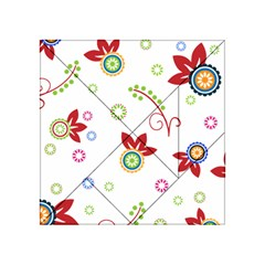 Colorful Floral Wallpaper Background Pattern Acrylic Tangram Puzzle (4  X 4 ) by Amaryn4rt
