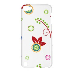 Colorful Floral Wallpaper Background Pattern Apple Ipod Touch 5 Hardshell Case by Amaryn4rt