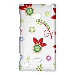 Colorful Floral Wallpaper Background Pattern Nokia Lumia 720 by Amaryn4rt