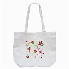 Colorful Floral Wallpaper Background Pattern Tote Bag (white) by Amaryn4rt