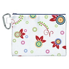 Colorful Floral Wallpaper Background Pattern Canvas Cosmetic Bag (xxl) by Amaryn4rt