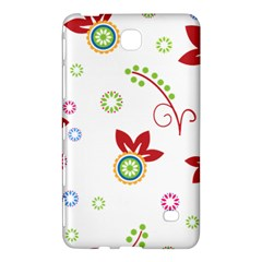 Colorful Floral Wallpaper Background Pattern Samsung Galaxy Tab 4 (8 ) Hardshell Case  by Amaryn4rt
