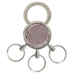Digital Fractal Pattern 3 Ring Key Chains by Amaryn4rt