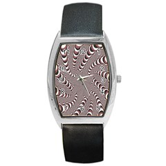 Digital Fractal Pattern Barrel Style Metal Watch by Amaryn4rt