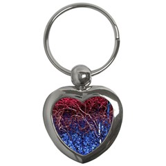 Autumn Fractal Forest Background Key Chains (heart)  by Amaryn4rt