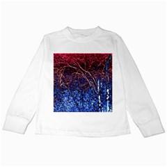 Autumn Fractal Forest Background Kids Long Sleeve T Shirts