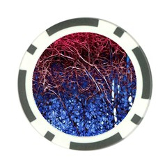 Autumn Fractal Forest Background Poker Chip Card Guard by Amaryn4rt