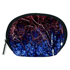 Autumn Fractal Forest Background Accessory Pouches (medium)  by Amaryn4rt