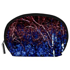 Autumn Fractal Forest Background Accessory Pouches (large)  by Amaryn4rt