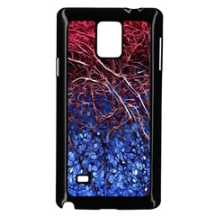 Autumn Fractal Forest Background Samsung Galaxy Note 4 Case (black) by Amaryn4rt