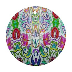 Wallpaper Created From Coloring Book Ornament (round) by Amaryn4rt
