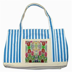 Wallpaper Created From Coloring Book Striped Blue Tote Bag by Amaryn4rt