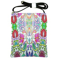 Wallpaper Created From Coloring Book Shoulder Sling Bags by Amaryn4rt