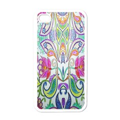 Wallpaper Created From Coloring Book Apple Iphone 4 Case (white) by Amaryn4rt