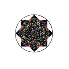 Mandala Abstract Geometric Art Hat Clip Ball Marker (4 Pack) by Amaryn4rt
