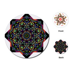 Mandala Abstract Geometric Art Playing Cards (round)  by Amaryn4rt