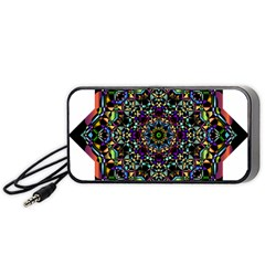 Mandala Abstract Geometric Art Portable Speaker (black) by Amaryn4rt