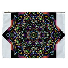 Mandala Abstract Geometric Art Cosmetic Bag (xxl)  by Amaryn4rt