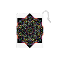 Mandala Abstract Geometric Art Drawstring Pouches (small)  by Amaryn4rt