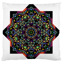 Mandala Abstract Geometric Art Large Flano Cushion Case (two Sides) by Amaryn4rt