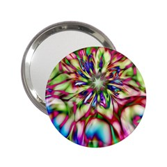 Magic Fractal Flower Multicolored 2 25  Handbag Mirrors by EDDArt