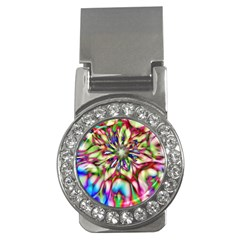 Magic Fractal Flower Multicolored Money Clips (cz)  by EDDArt