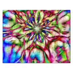 Magic Fractal Flower Multicolored Rectangular Jigsaw Puzzl by EDDArt
