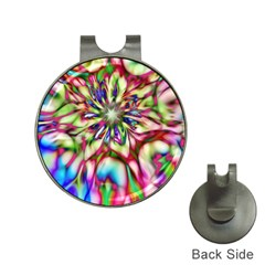 Magic Fractal Flower Multicolored Hat Clips With Golf Markers by EDDArt