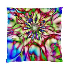 Magic Fractal Flower Multicolored Standard Cushion Case (one Side) by EDDArt
