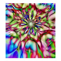 Magic Fractal Flower Multicolored Shower Curtain 66  X 72  (large)  by EDDArt