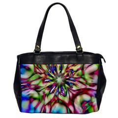 Magic Fractal Flower Multicolored Office Handbags by EDDArt