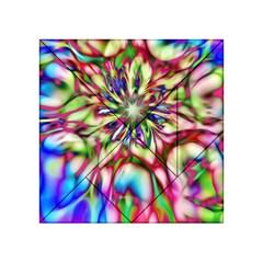 Magic Fractal Flower Multicolored Acrylic Tangram Puzzle (4  X 4 ) by EDDArt