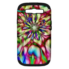 Magic Fractal Flower Multicolored Samsung Galaxy S Iii Hardshell Case (pc+silicone) by EDDArt