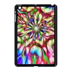 Magic Fractal Flower Multicolored Apple Ipad Mini Case (black) by EDDArt