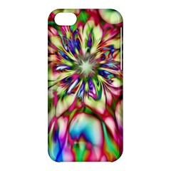 Magic Fractal Flower Multicolored Apple Iphone 5c Hardshell Case by EDDArt