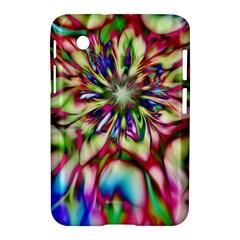 Magic Fractal Flower Multicolored Samsung Galaxy Tab 2 (7 ) P3100 Hardshell Case  by EDDArt
