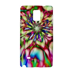 Magic Fractal Flower Multicolored Samsung Galaxy Note 4 Hardshell Case by EDDArt