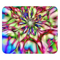 Magic Fractal Flower Multicolored Double Sided Flano Blanket (small)  by EDDArt