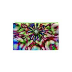 Magic Fractal Flower Multicolored Cosmetic Bag (xs) by EDDArt