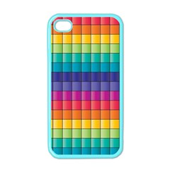 Pattern Grid Squares Texture Apple Iphone 4 Case (color) by Amaryn4rt