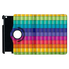 Pattern Grid Squares Texture Apple Ipad 2 Flip 360 Case by Amaryn4rt