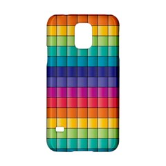 Pattern Grid Squares Texture Samsung Galaxy S5 Hardshell Case  by Amaryn4rt